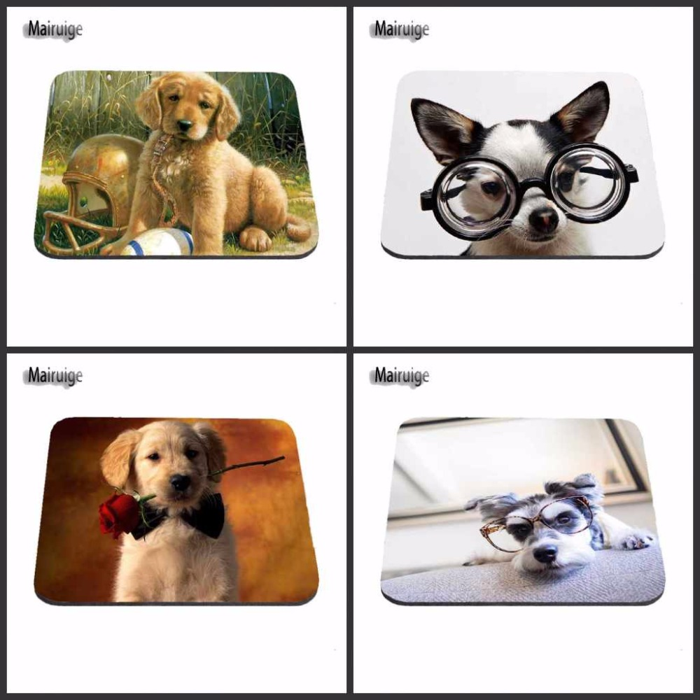Mairuige Cheap Fashion Customized funny Glasses Dog Mouse Pad Gaming Gear Anti-Slip Durable Rubber Mousepad for PC Optical Mouse