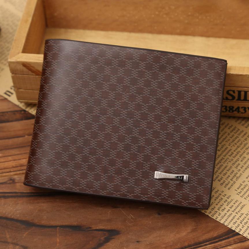 Transer New 2018 Men Designer Small Purse Rfid Card Holder Mini Slim Leather Wallets A24