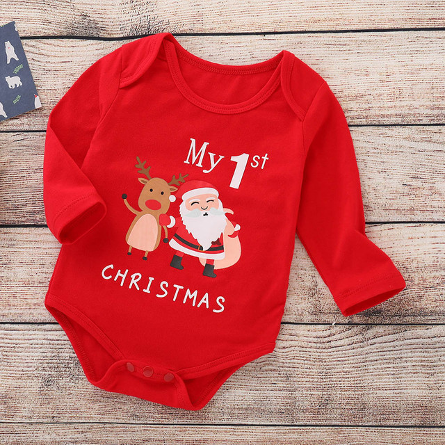 ARLONEET Christmas Clothes Children Baby Girls boys Cartoon Deer 1PC Romper lovely kids Fashion romper Cloth In 2018 Xms