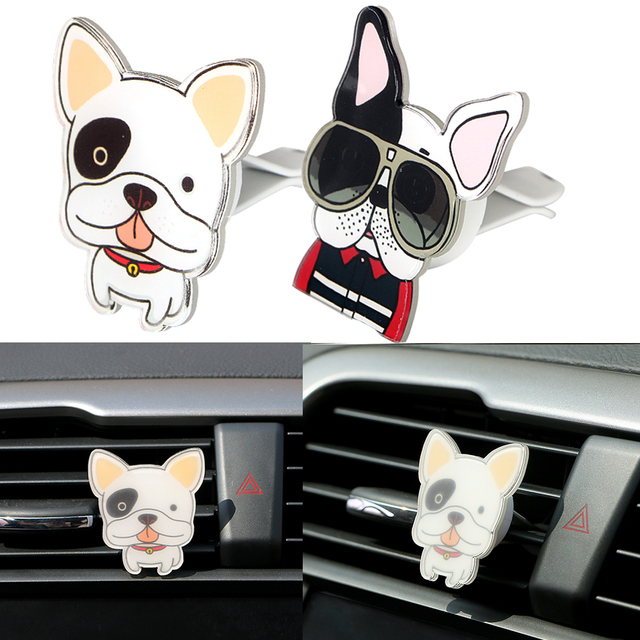 Car Air Vent Outlet Perfume Solid Fragrance Cute Dogs Shaped Car Air Freshener Auto Decor Funny Car-styling Accessories