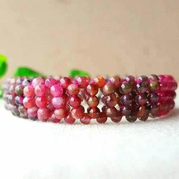 5a6319a3c034 Pulseras de piedra de turmalina Natural al por mayor brazaletes tejidos a  mano 3mm pulsera de regalo de la suerte para mujeres joyería Popular