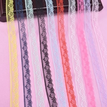 10 Yards/Lot Lace Ribbon Tape Width 20MMTrim Fabric DIY Embroidered Wedding Net Cord for Sewing Decoration African Lace Fabric beautiful 10 yards lace ribbon tape width 45mm trim fabric diy embroidered net cord for sewing decoration african lace fabric