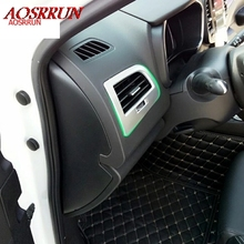 2PCS car-styling Interior ABS Front Side Air Condition Vent car-covers Trim for Renault Koleos 2 2016 2017 car accessories