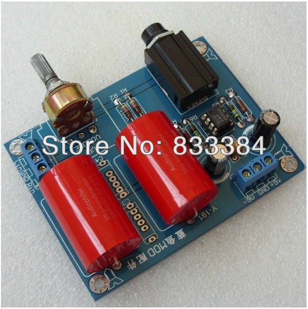 где купить DIY RA1 Headphone Amplifier Kit Power AMP JRC4556AD дешево