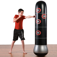 Inflatable Boxing Column Tumbler Sandbags Fitness Training Fun Activity Kids Inflatable MMA Target Bag Toy Sport