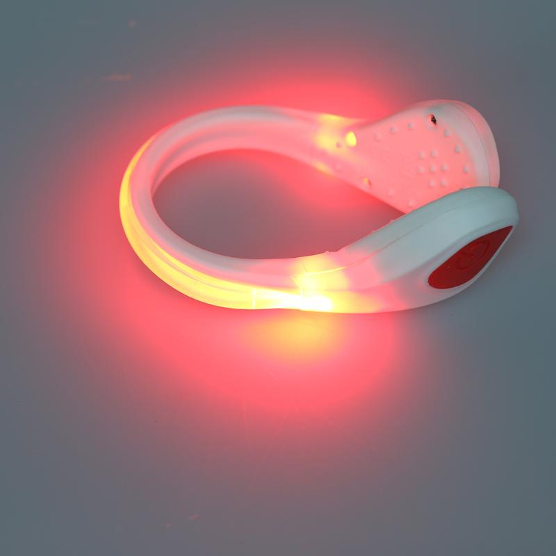 Running Cycling LED Luminous Safety Warning Shoe Clip Light Night Safety Warning Bright Flash Light For Running Cycling Bike ...