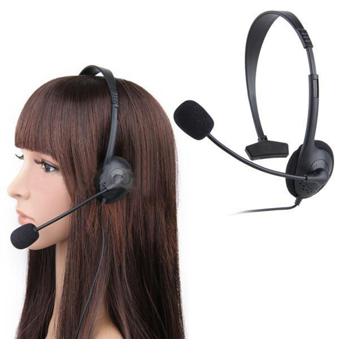 Marsnaska Hot Sale Black Video Game single ear Headset Headphone earphone with Microphone Mic for Xbox 360 Xbox360