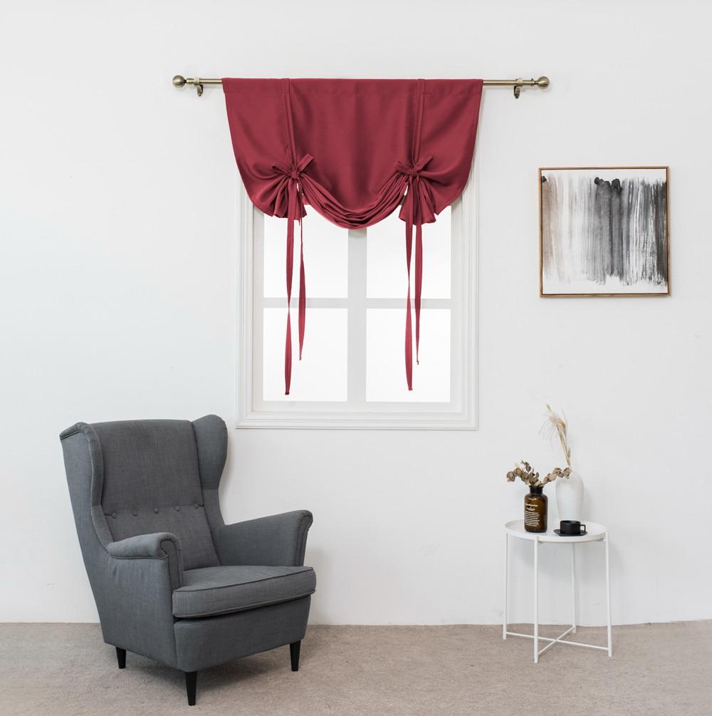 Krachtig Romeinse Gordijn Thermische Geïsoleerde Tule Gordijnen Verduisteringsgordijn Voor Kleine Window Valance Ballon Blind Cortinas Estampadas