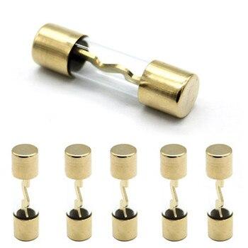 10*38 oro vidrio plateado AGU fusible fusibles paquete amplificador de Audio del automóvil amplificador 10A 15A 20A 25A 30A 40A 50A 60A 70A 80A 100A 1