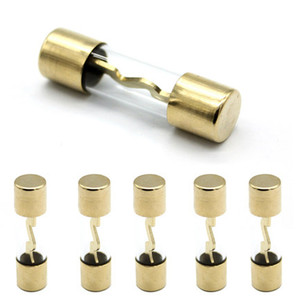 10*38 Gold Plated Glass AGU Fuse Fuses Pack Car Audio Amp Amplifier 10A 15A 20A 25A 30A 40A 50A 60A 70A 80A 100A(China)