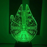 Star Wars BB8 Droid 3D Bulbing Light Toys 2016 New 7 Color Changing Visual Illusion LED