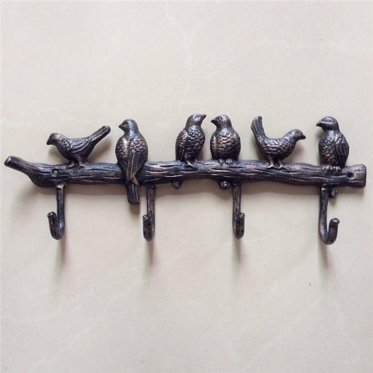 4 Hooks Over Door Birds Rack Pantry Coat Towel Hanger By