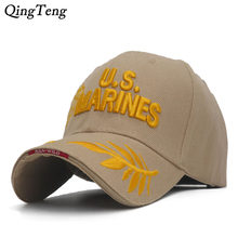 74ac1217344 Men S US MARINES Cap Corps Embroidered Ball Cap USA Navy Tactical Hats  Snapback Cap Hat Adjustable Navy Seal Gorras
