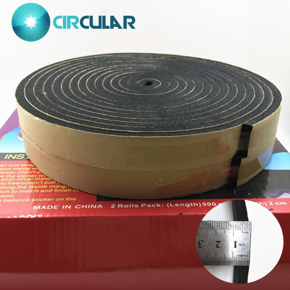 Self Adhesive Sound Heat Insulation Car Door Seal Cotton Strip High Quality 5mm Thickness Multi-area Deadener Tape