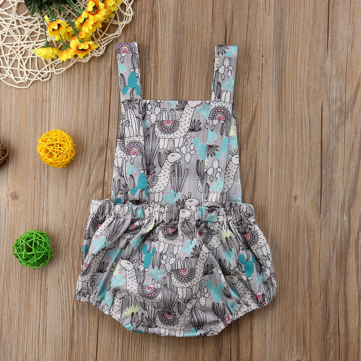 9af6a0399c1 Newborn Baby Girls Boy Sheep Cactus Romper Summer Clothes Outfit Baby  Clothing-in Rompers from Mother   Kids on Aliexpress.com
