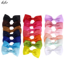 20pcs Hair Bows Band Boutique Alligator Clip Grosgrain Ribbon for Girl Kids Accessories Bowknot