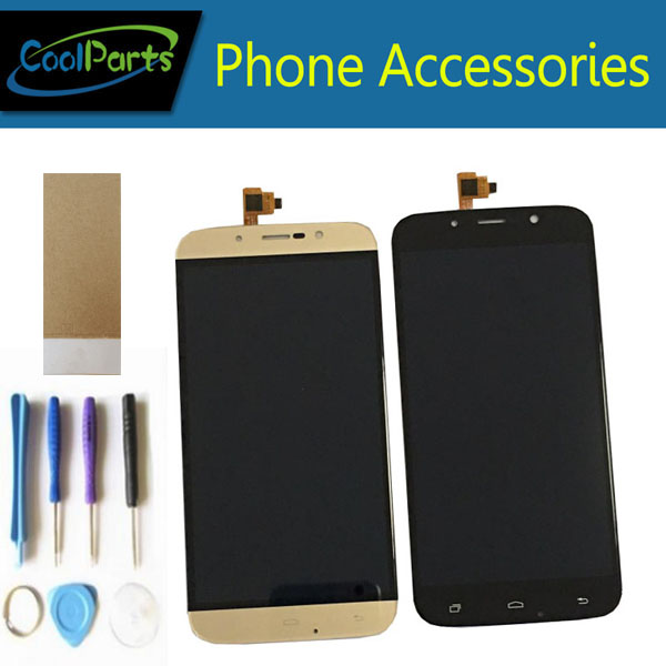 1PC/Lot For Umi Rome wsc5521 Umi Rome X LCD Screen Display +Touch Screen Digitizer Assembly With Tool&Tape Black Gold Color
