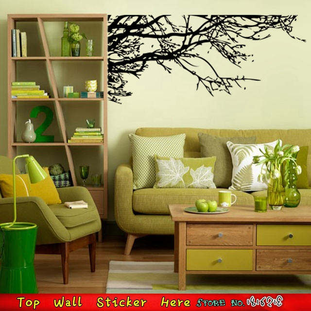 HOme Decoration Black Tree Branches Wall Stickers Parlor Living Room ...
