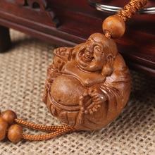 30pcs/lot wholesale Mini 3*3*2.8CM buddha Sculpture pandent Wood statues promotion gifts