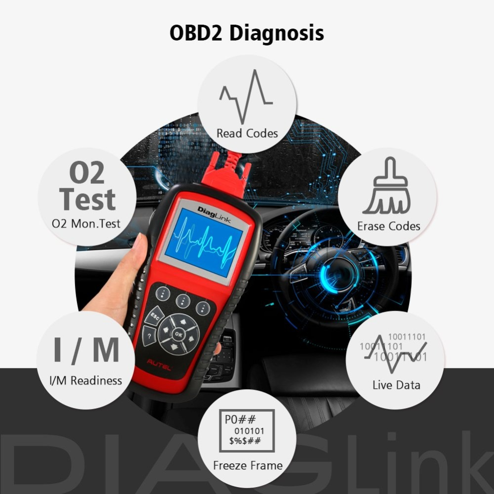Image 4 - Autel Diaglink OBDII Diagnostic Tool All System OBD OBD2 Scanner DIY Auto Code Reader Automotive Tools as AUTEL MD802 PK MD805-in Code Readers & Scan Tools from Automobiles & Motorcycles