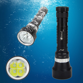 SolarStorm LED 2000 Lm Waterproof 4xXML L2 Scuba Diving Flashlight Torch Light 100M With 26650 Battery +charger