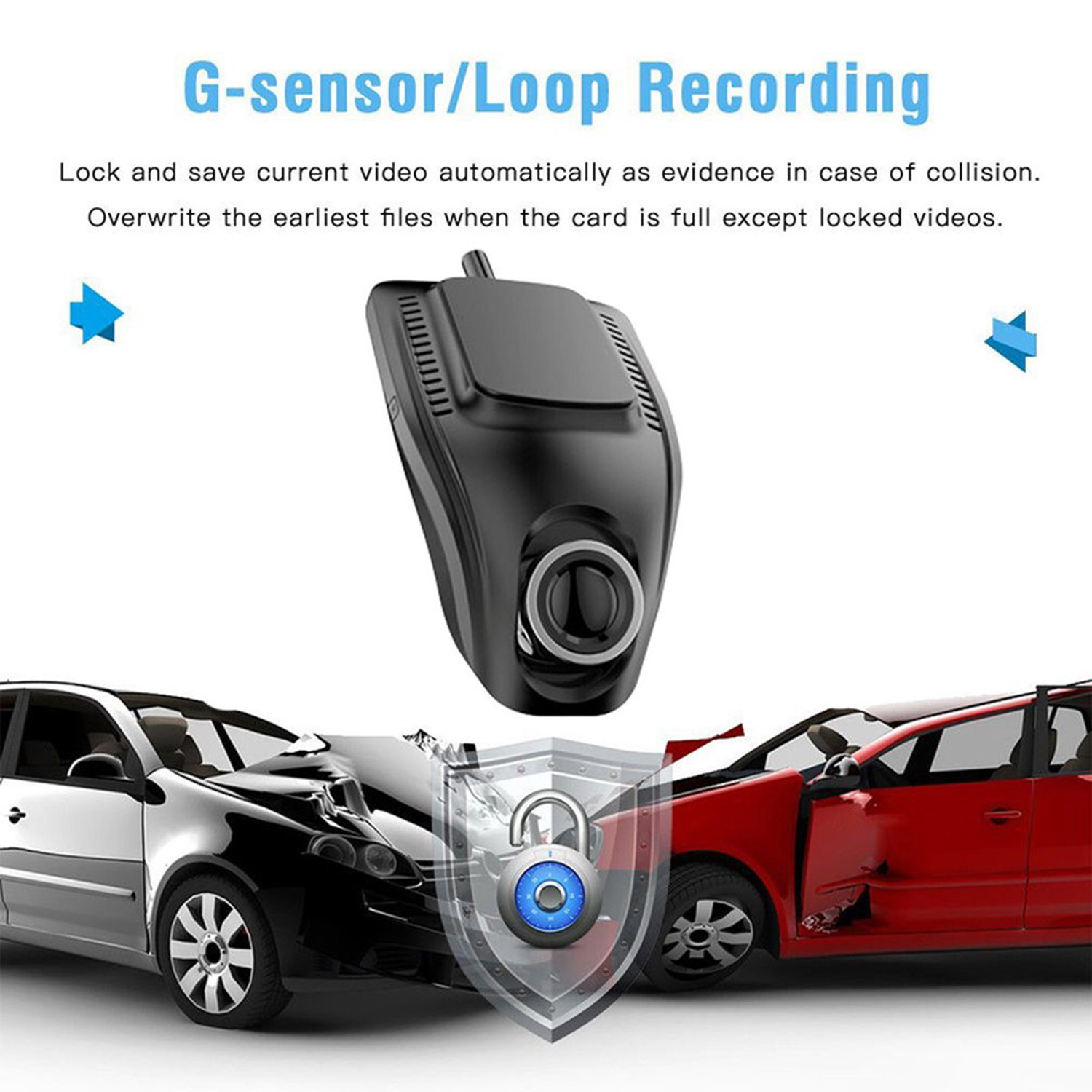 Image 2 - new Small Eye Dash Cam Car DVR Recorder Camera with Wifi Full HD 1080p Wide Angle Lens G Sensor Night Vision Dash Cam-in DVR/Dash Camera from Automobiles & Motorcycles