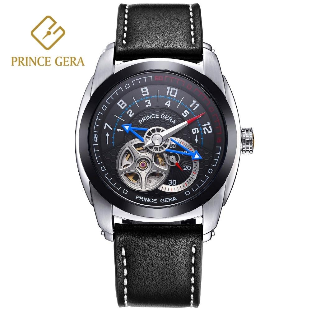 PRINCE GERA Férfi mechanikus automata órák divat egyedi csontváz - Férfi órák