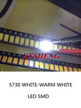 5000 PCS/5630 LED 5730 SMD Leds 40-60LM Lâmpada emissor de luz-LEVOU Chip Diodos branco quente/whtie para ILUMINAÇÃO LED 3200 k/6500 k 150ma