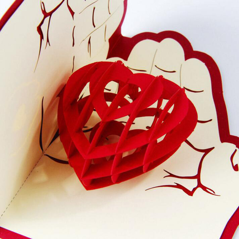 3d pop up foldable greeting cards creative handmade love in the hand 3d pop up foldable greeting cards creative handmade love in the hand post cards wedding valentines birthday mothers day gift in cards invitations from m4hsunfo