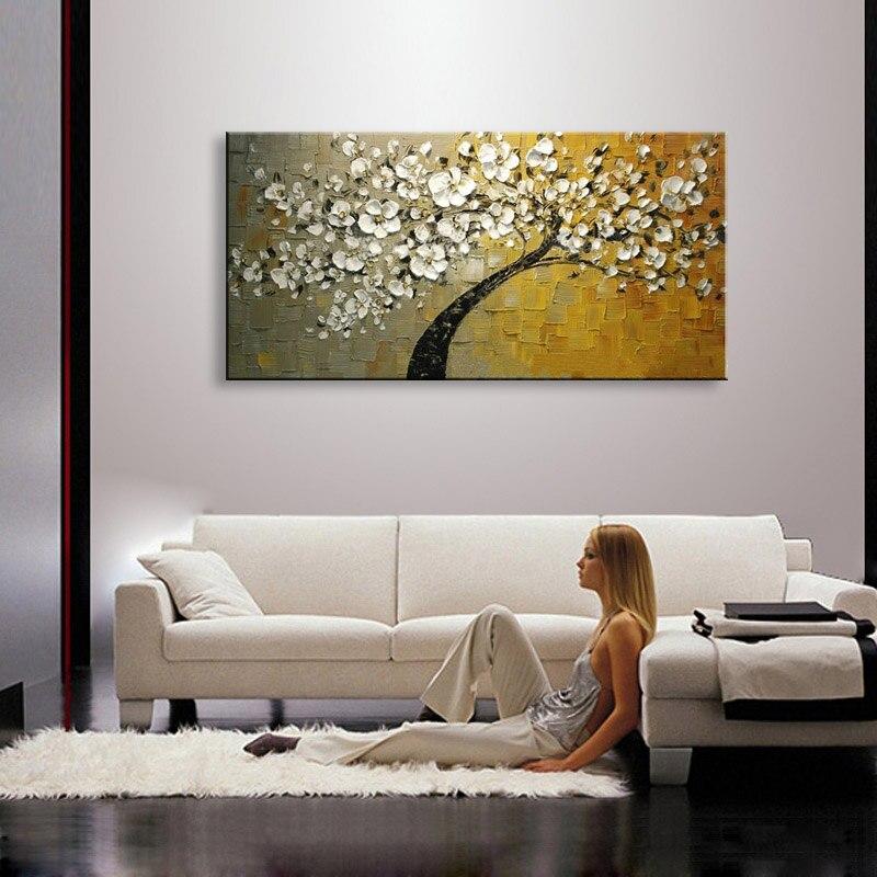 100% Қолмен боялған заманауи гүлдер - Үйдің декоры - фото 2