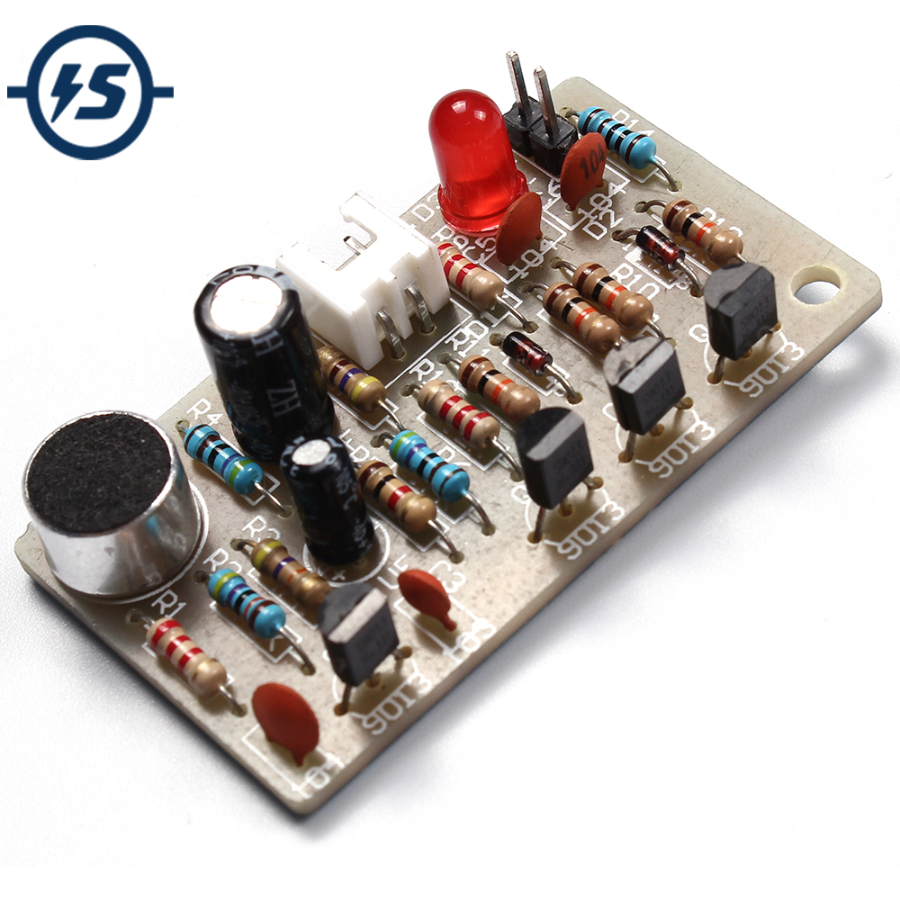 Electronic Acoustic Clap Control Switch DIY Kit Sound Sensor Electronic Circuit DIY Suit Integrated PCB Module