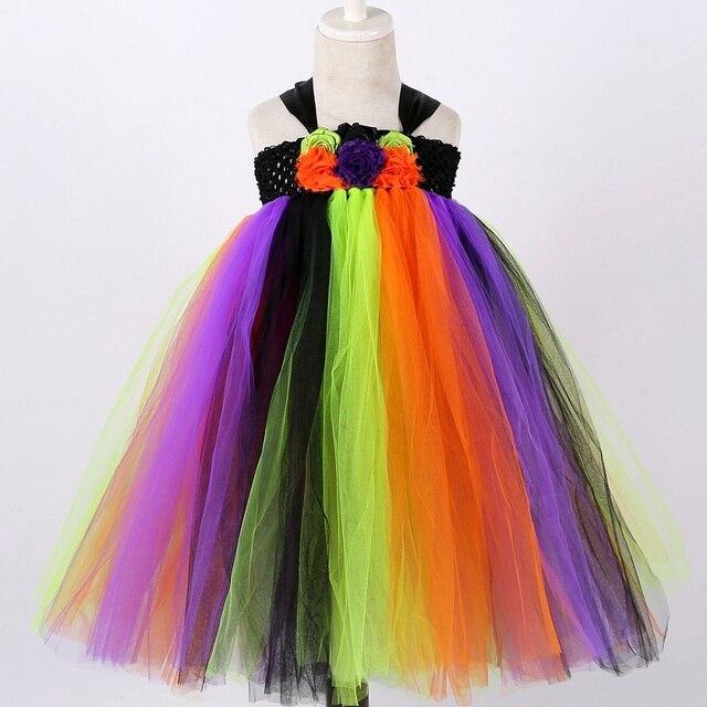 Witch Tutu Dress Rainbow...