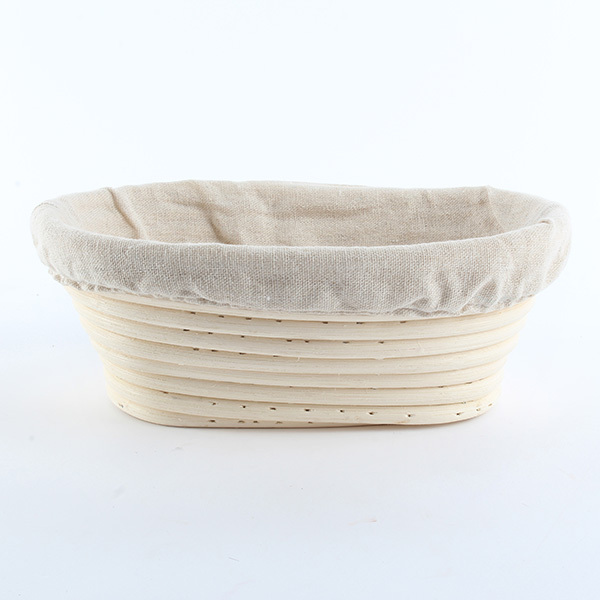 Durable Banneton Brotform Bread Proofing Rising Proving Oval Rattan Basket 1PCS Hot Sale