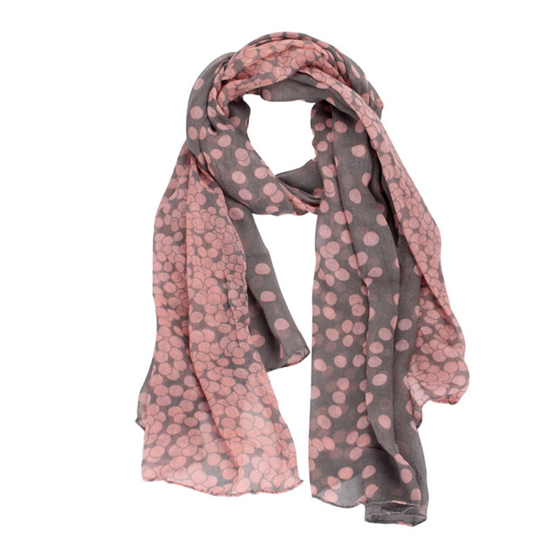 2019 # FASHION New Lady Womens Long Polka Dot Scarf Wraps Shawl Stole Soft Scarves Y91330