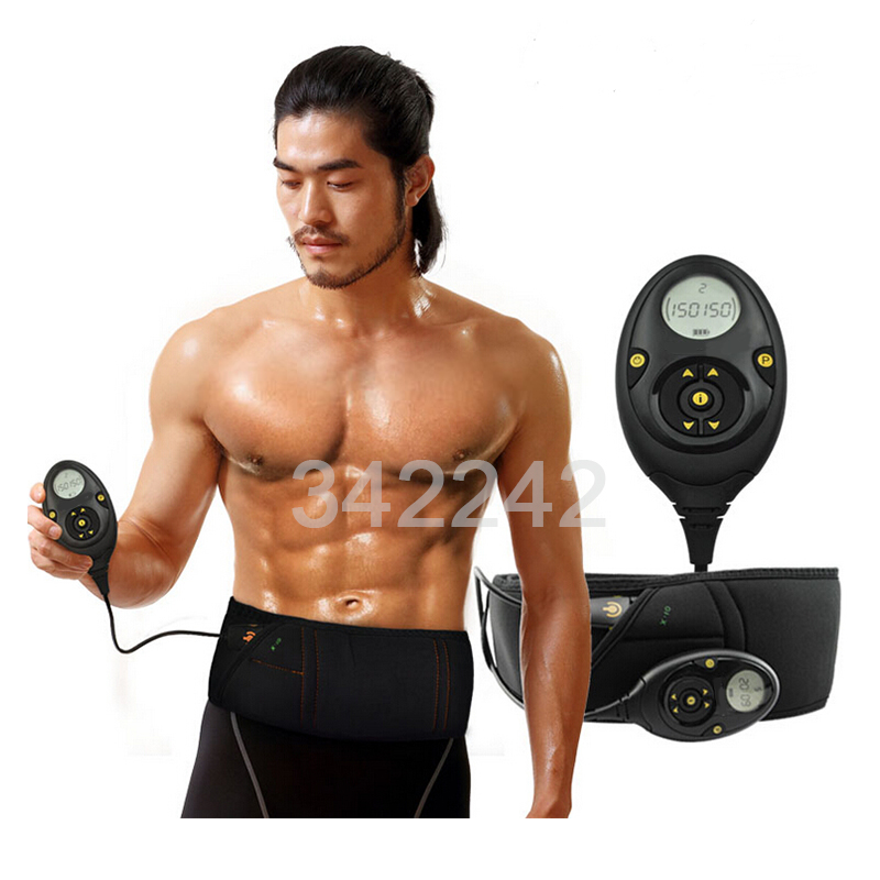 Beste Slim afslankende massage riem EMS Spierstimulator Unisex Abs Buikspier Toner Kern Abs Training Belt 10 trainingsmodus