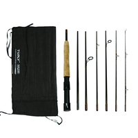 Convertible Handle 7 Sections Carbon Fiber Fly Fishing Rod Ultralight Spinning Fishing Rod Travel Fishing Tackle
