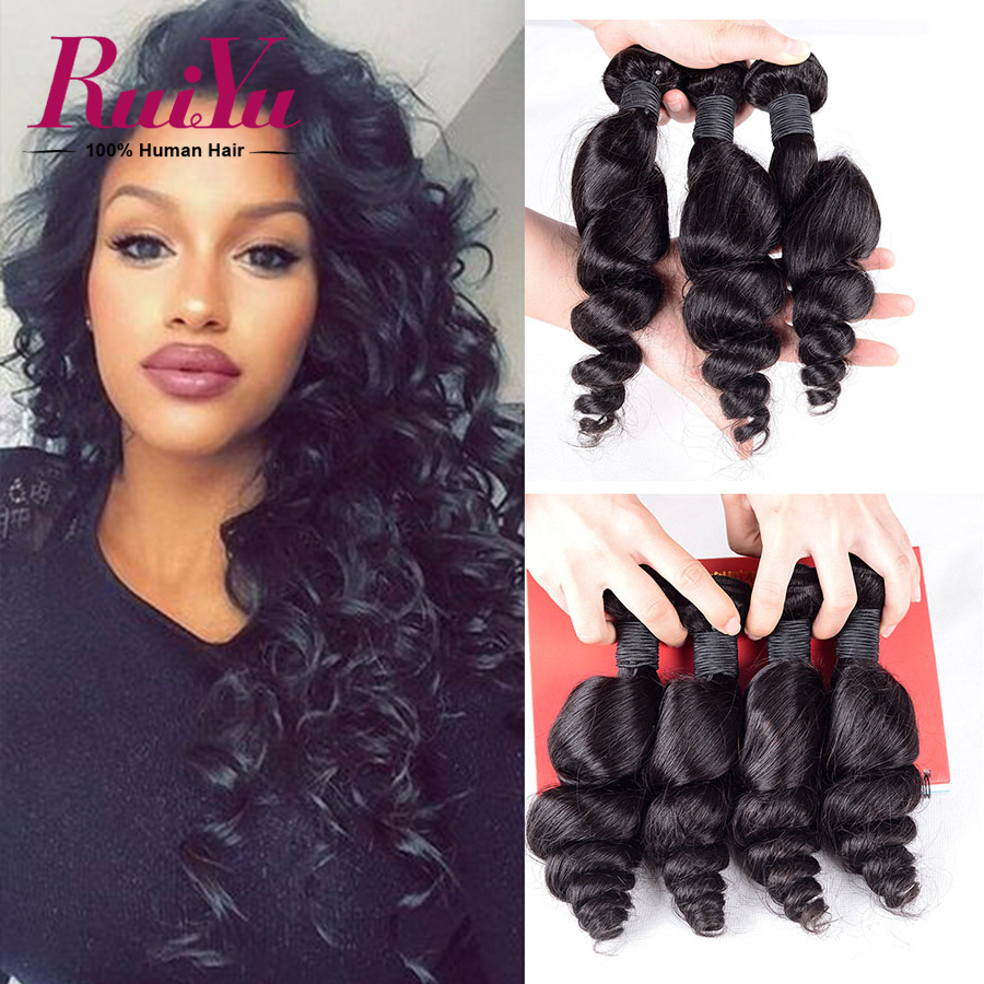 7A Peruvian Loose Wave Virgin Hair 4 Bundles Peruvian Virgin Hair Loose Wave Peruvian Curly Weave Cheap Human Hair Weave Bundles