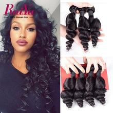 7A Peruvian Loose Wave Virgin Hair 4 Bundles Peruvian Virgin Hair Loose Wave Peruvian Curly Weave Cheap Human Hair Weave Bundles
