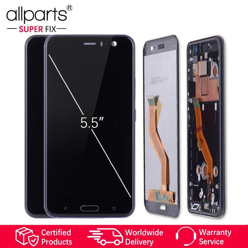 5.5'' 2560x1440 Оригинальный тачскрин дисплей экран для HTC U11 сенсорный дисплей Оригинал LCD с тачскрином в рамке замена запчасти для HTC U11 Черный син...