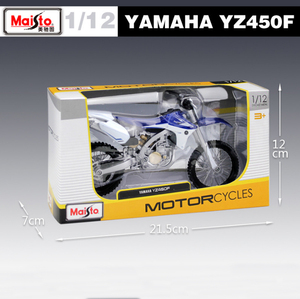 Image 4 - New 1:12 Scale YAMAHA YZ450F Metal Diecast Model Motorcycle Motorbike Racing Cars Toys Vehicle Moto GP Collection For Boys Gifts