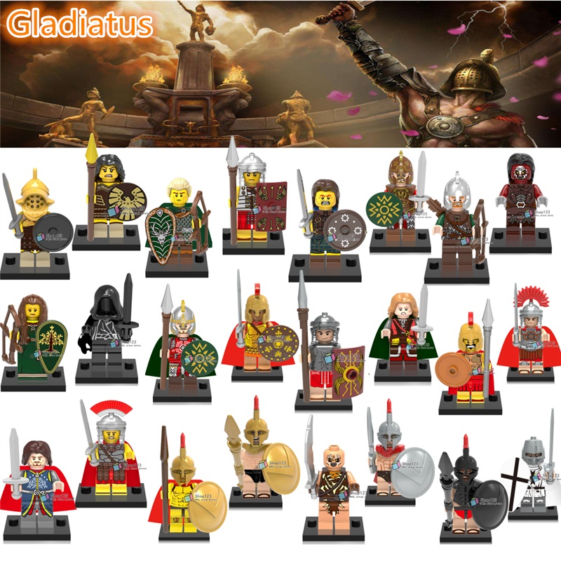 Fine 100pcs/lot Gladiatus Heroes Of Sparta Blocks Elf Hunter Rome Medieval Knights Building Blocks X0137 X0164 Toys For Children Model Building