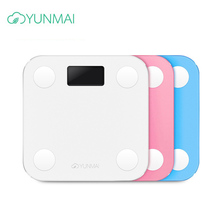 Hot bathroom Smart Yunmai Mini Scale Digital Body Fat Weight Scale  Body Balance Human Weighing Scales Floor Balance Connect все цены