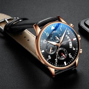 Image 2 - Mens Watch Top Brand Luxury Men Wristwatch Clock Fashion Sport Quartz Watches Male Military Waterproof Chronograph Clock relojes