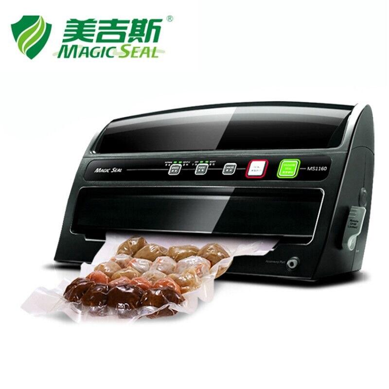 MAGIA de VEDAÇÃO Máquina De Embalagem A Vácuo Food Saver com Cortador De Rolo, elétrica Aferidor Do Vácuo Casa 200 W/220 V com o Saco de Vácuo