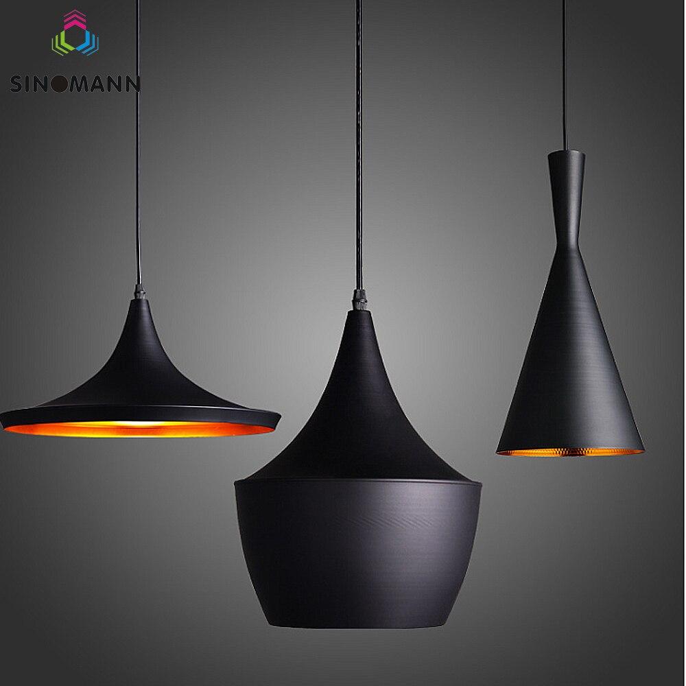 Moderne LED Anhänger Licht Vintage Anhänger Lampe E27 Basis Edison Birne Hause Leuchte Art Deco Designer Licht Glanz