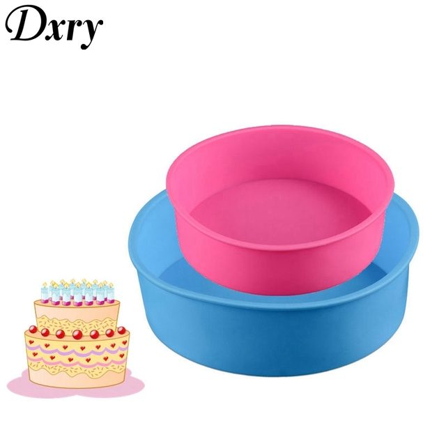 2pcs Round Silicone Mold 2 Layers Set Mousse Cake Moulds Baking Pan For Birthday Molds Chocolate Pastry Tools