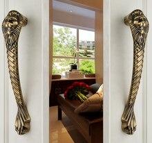 Львиные ворота ручкой форма твердые деревянные двери стеклянные двери ручка двери ( cc : 250 мм, L : 300 мм )