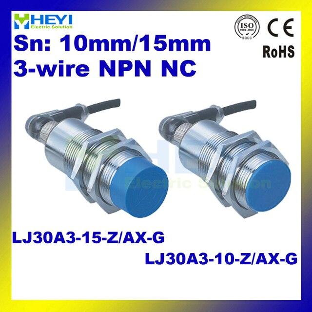 LJ30A3 10 Z/AX G & LJ30A3 15 Z/AX G 6 36VDC NC NPN M30 air plug ...