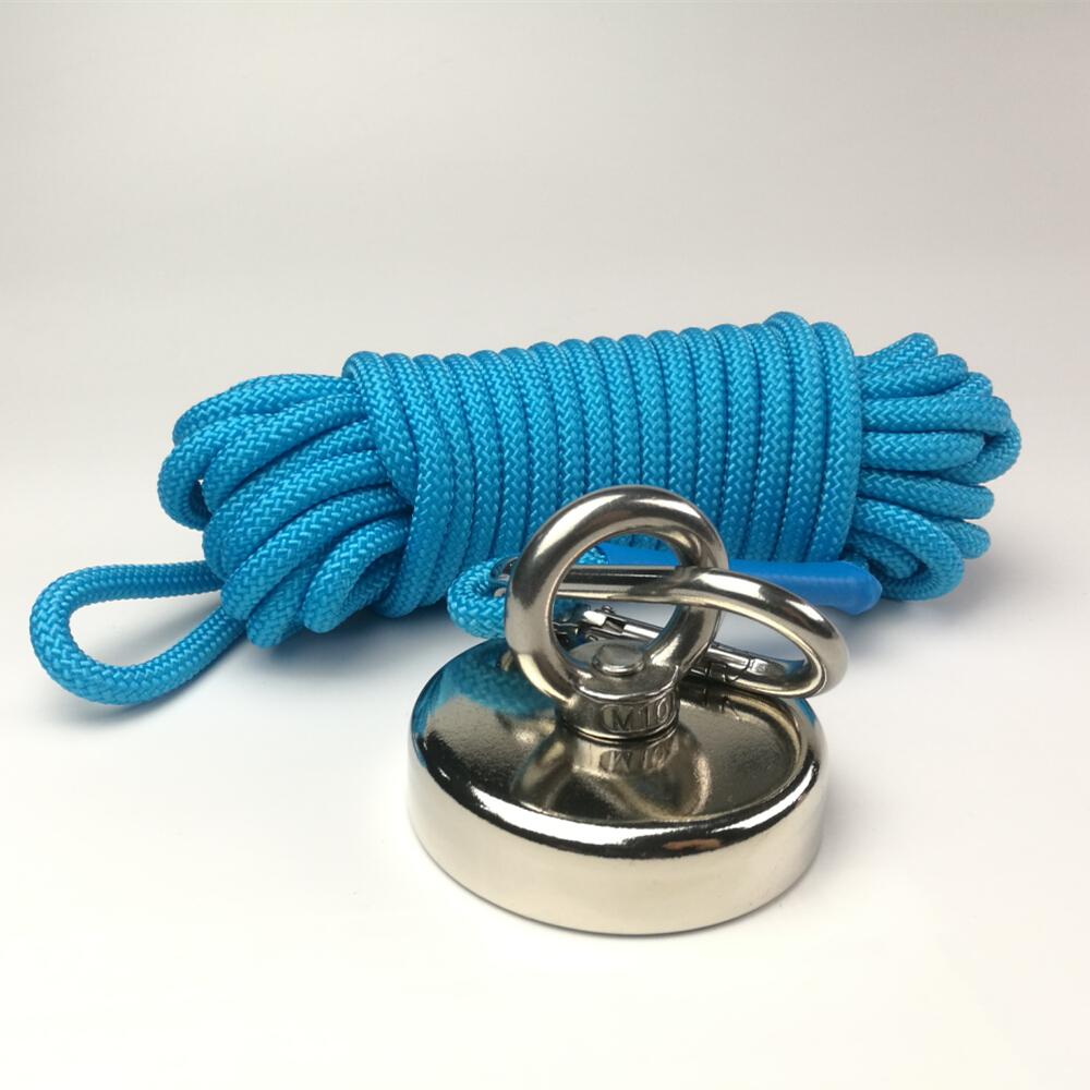 1PC 300KG Vertical Pull-force Neodymium Recovery Fishing Magnet With Rope Searching Salvage Metal Detecting Treasure Hunting1PC 300KG Vertical Pull-force Neodymium Recovery Fishing Magnet With Rope Searching Salvage Metal Detecting Treasure Hunting
