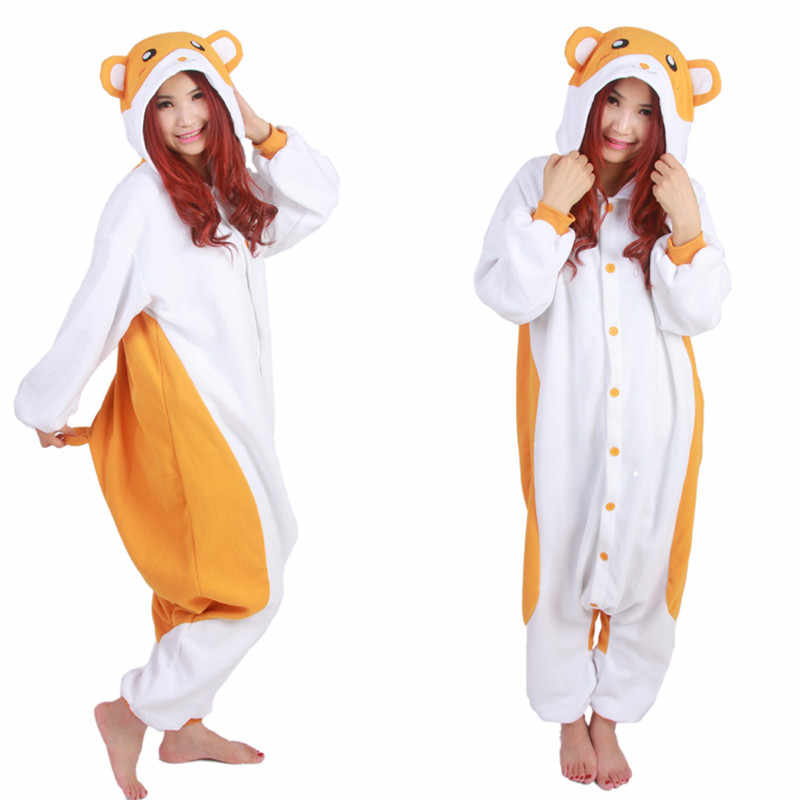 c3a8804a8ad Trotting Hamtaro Onesie Kigu Adults Men Women Halloween Christmas Carnival  Party Fleece Unisex Cosplay Costumes Jumpsuit